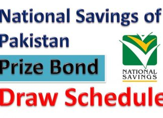 Prize Bonds Draw Schedule 2020