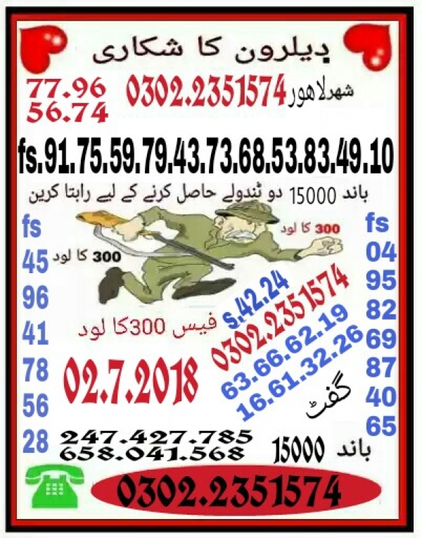 Dealron Ka Shikari 15000 Prize bond Guess Papers new 2018 Lahore