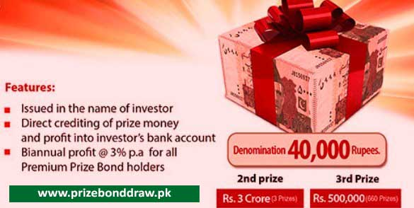 Rs. 40000 Premium Prize bond Draw List Check online