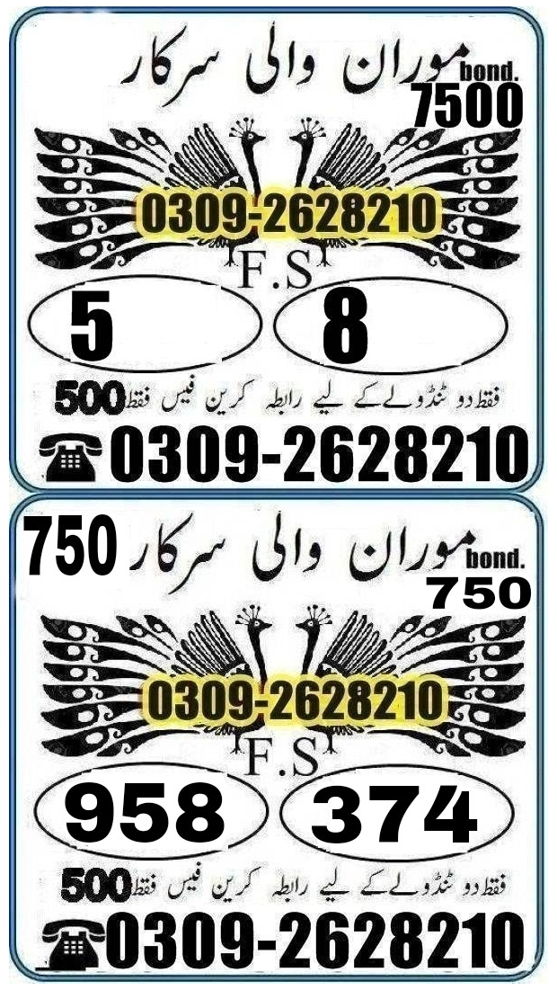 Aryan khan 7500 Prize bond Guess Papers August 2018