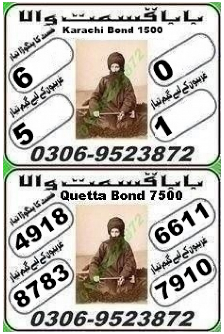 Baba Qistmat 1500 Prize bond Guess Papers August, 2018 Karachi