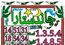 Chand Sitara 1500 Prize bond Guess Papers August, 2018 Karachi
