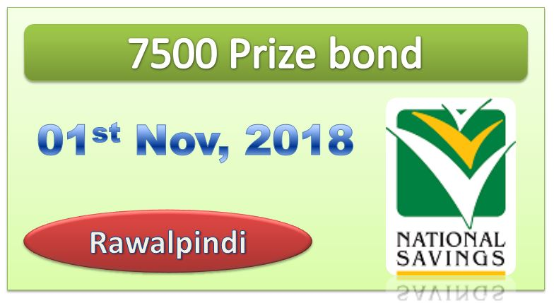 Rs 7500 Prize bond Draw No.76 Rawalpindi Results Lists 01th November 2018