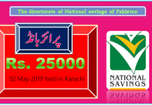 Rs 25000 Prize bond Draw No.29 Karachi Results Lists 02May 2019