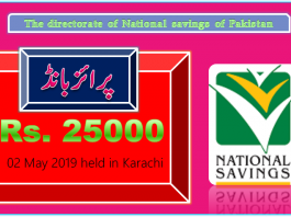 Rs 25000 Prize bond Draw No.29 Karachi Results Lists 02May 2019