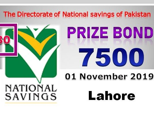 Download Draw # 80 Rs 7500 Prize Bond Held in Lahore on 01-11-2019