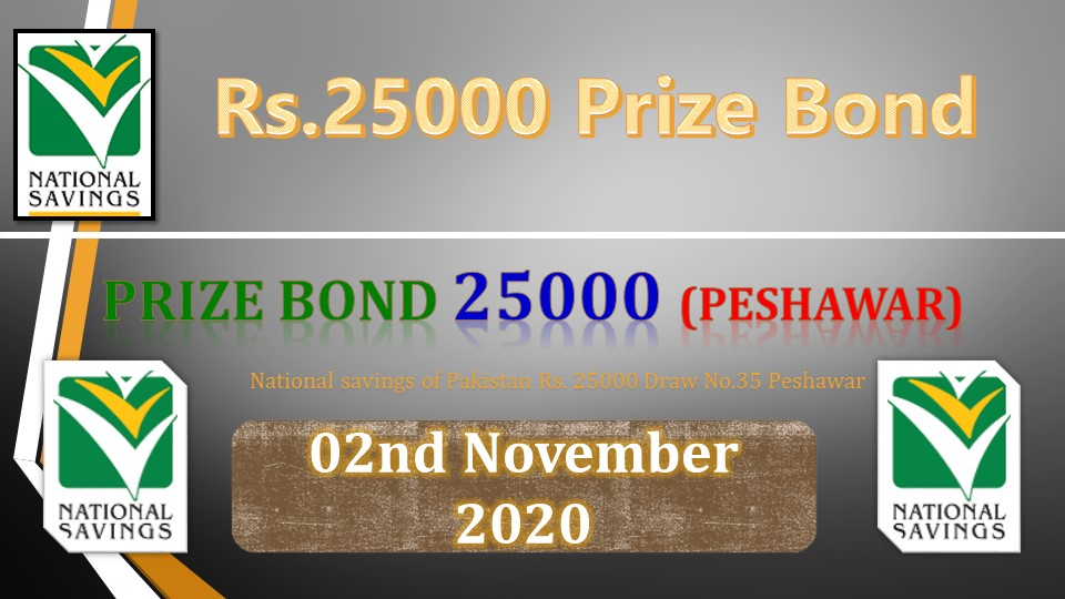 Rs. 25000 Prize bond Draw No.35 List 02 November 2020